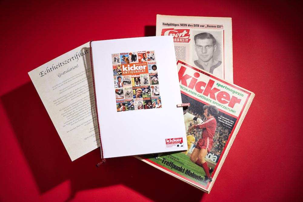 Geschenkmappe für historische Kicker Zeitung