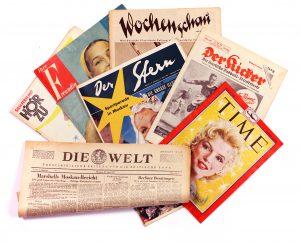 Original Zeitung vom Tag der Geburt