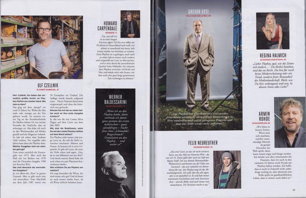 Playboy Interview mit Ulf Czellnik