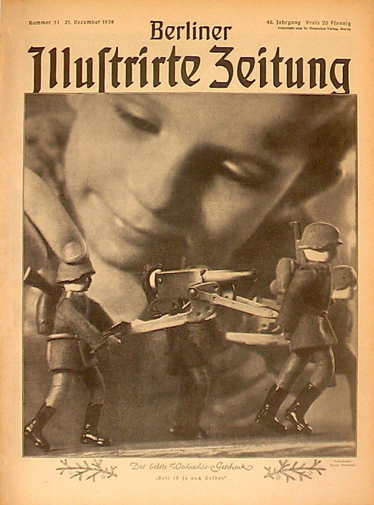 Titelbild mit Spielzeugsoldaten und Jungen