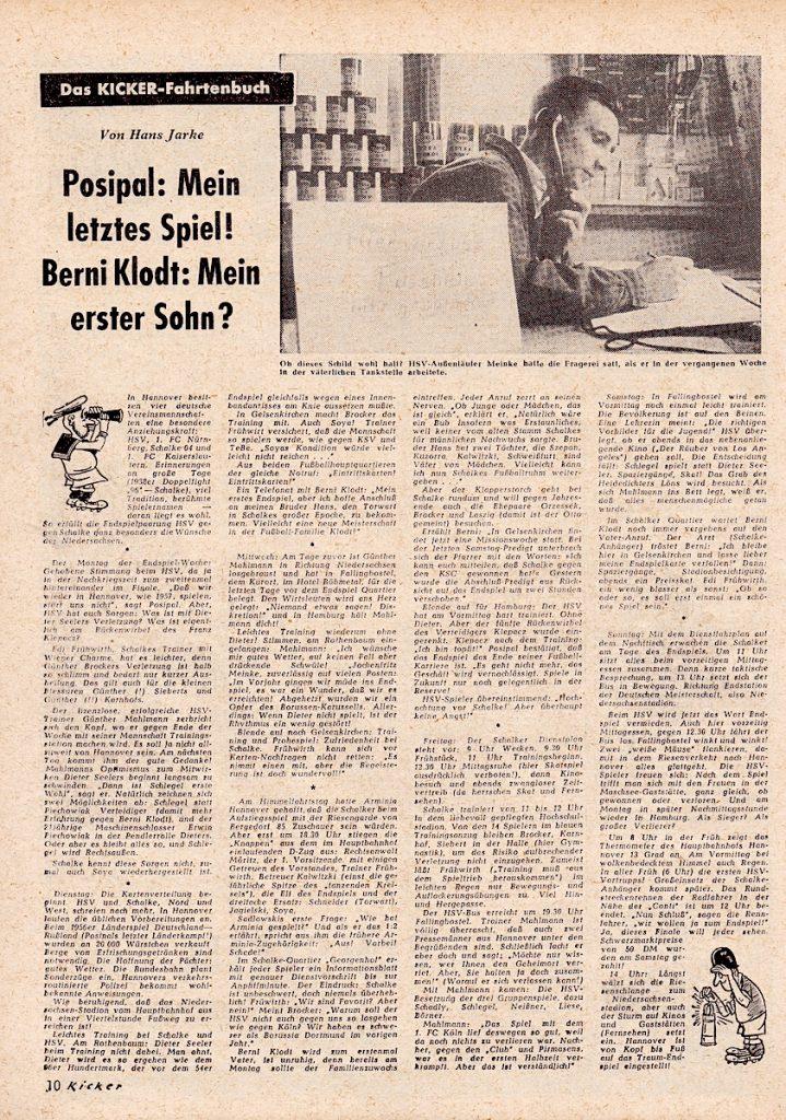 Zwei WM 1954 Helden: Berni Klodt und Jupp Posipal