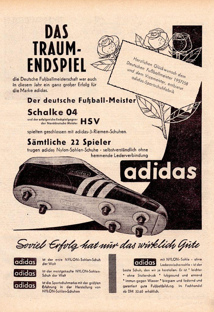 Adidas Werbung 1958