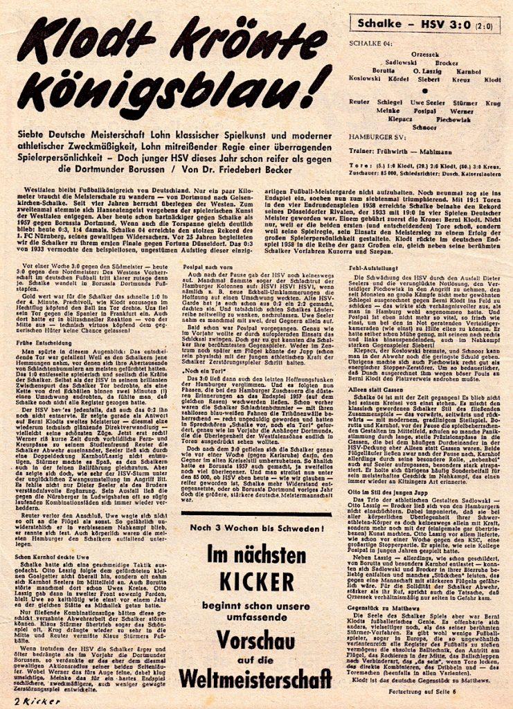 Deutsche Meisterschaft, 1957/1958, Finale