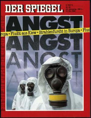 Zeitung zum 40. Geburtstag: Tschernobyl Spiegel-Cover