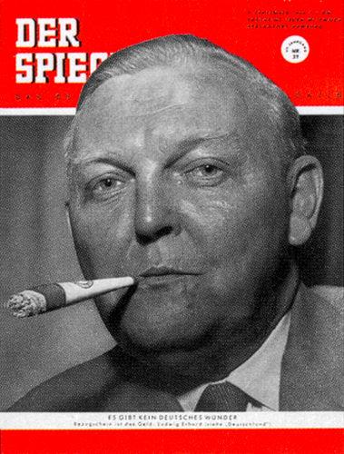 7o. Geburtstag Zeitung. Ludwig ErhardSpiegel Cover