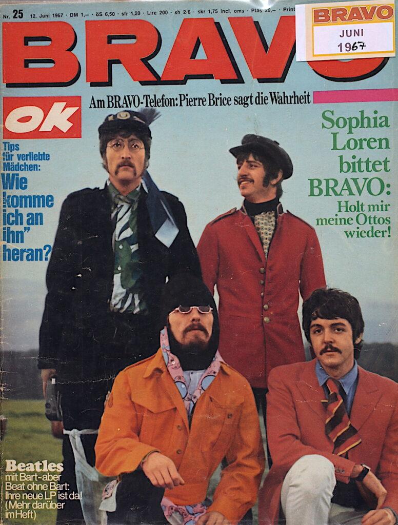 Bravo OK vom 12. Juni 1967 Beatles mit Bart-aber Beat ohne Bart: Ihre neue LP ist da!