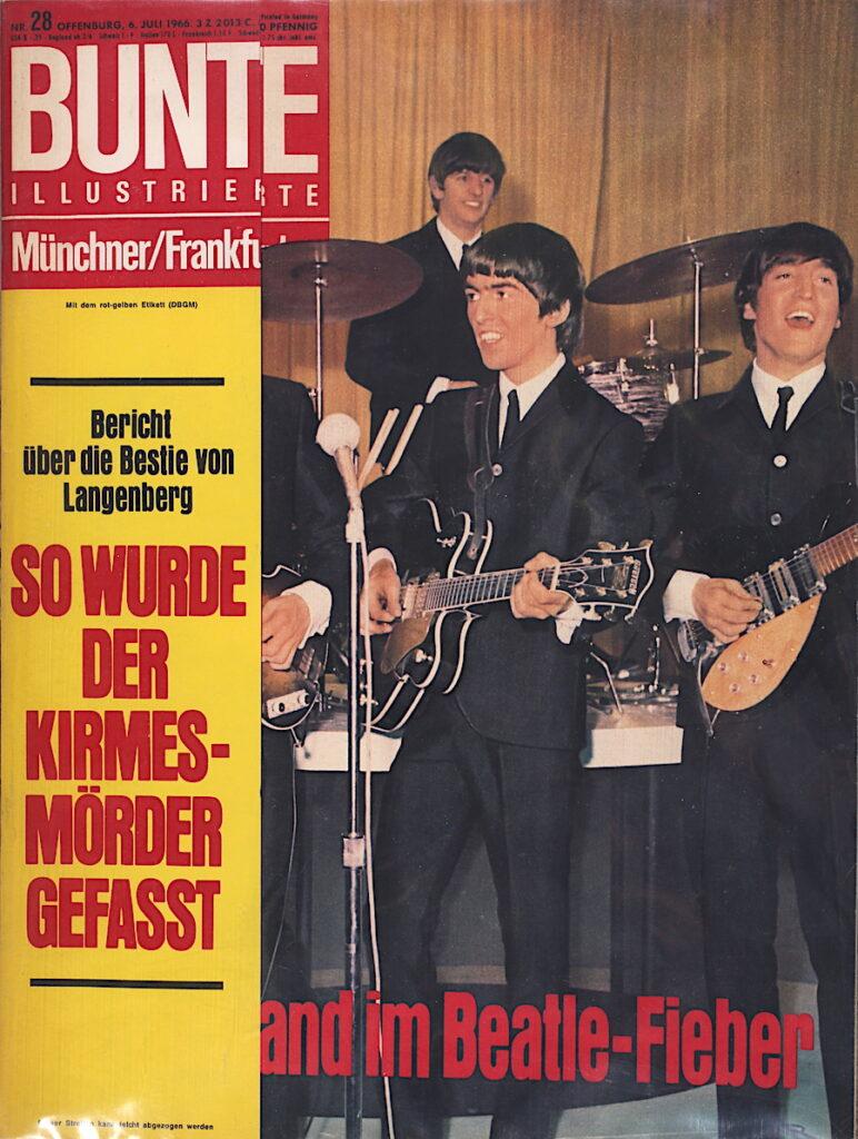 Bunte Illustrierte vom 6. Juli 1966 Deutschland im Beatles Fieber