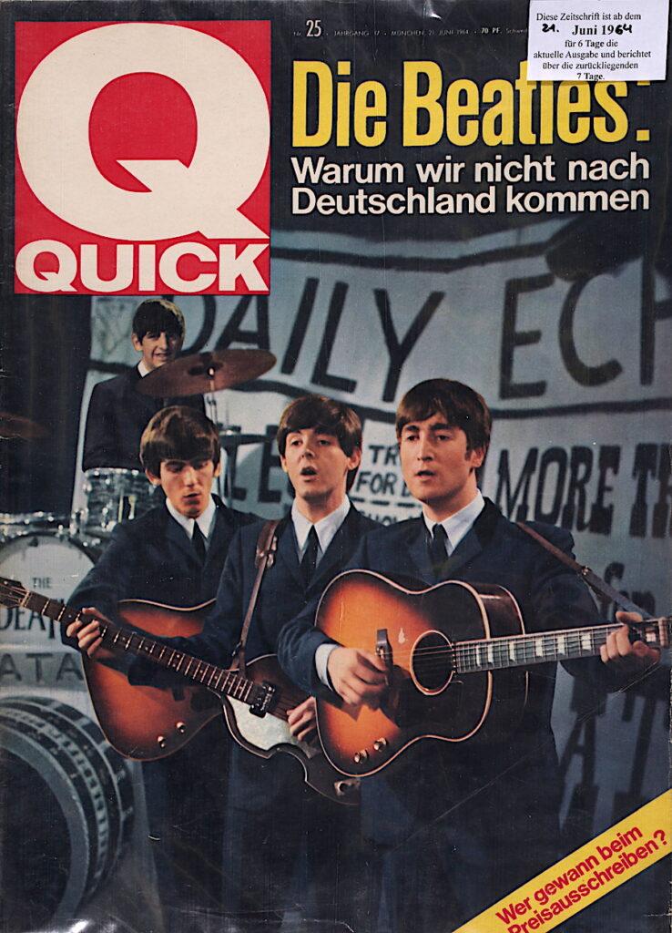 Quick Illustrierte vom 21.  Juli 1964 Die Beatles: Warum wir nicht nach Deutschland kommen.
