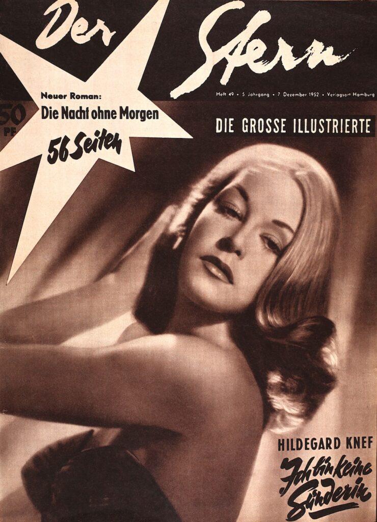 Hildegard Knef Stern Ausgabe Nummer 49 aus dem Jahr 1952