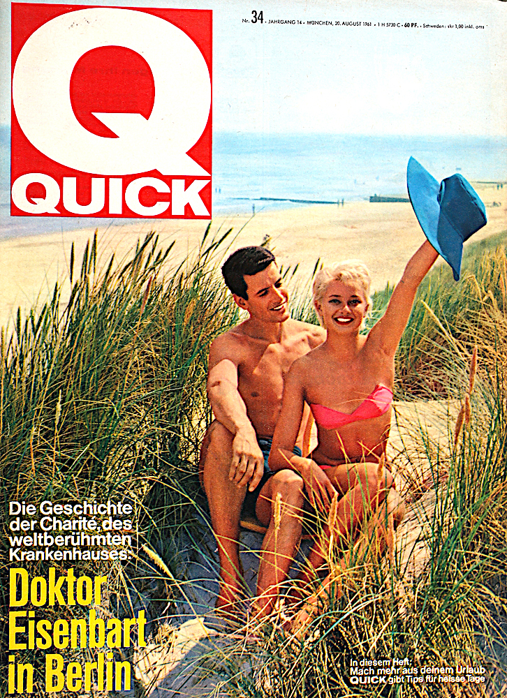 Zeitung 1961: Urlaubstips