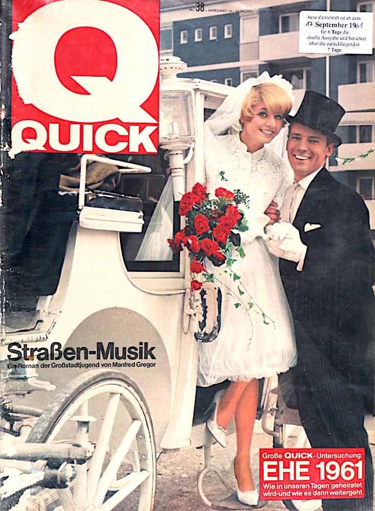 Zeitung 1961: Ehe in Deutschland