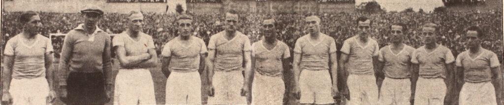Deutscher Meister 1934 Schalke 04  Kuzorra, Melange, Szepan, Urban, Nattkämper, Zajons, Bornemann, Kalwitzki, Valentin, Tibulski und Rothard.