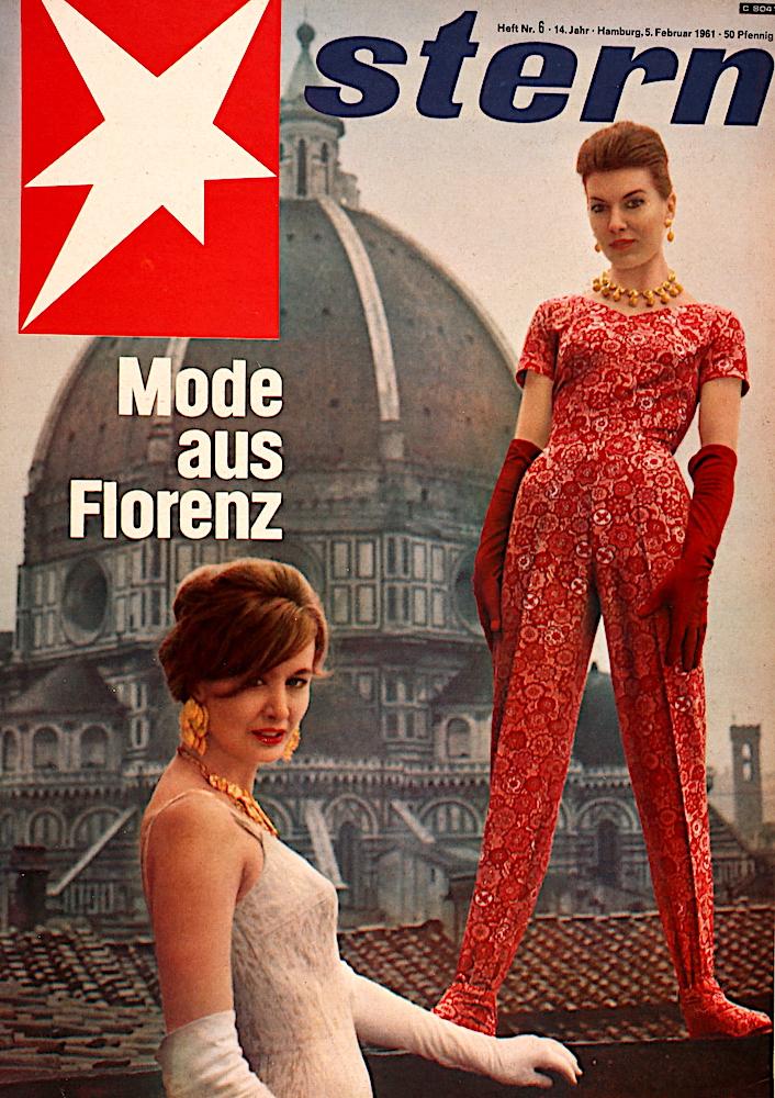 Zeitung 1961: Mode aus Florenz