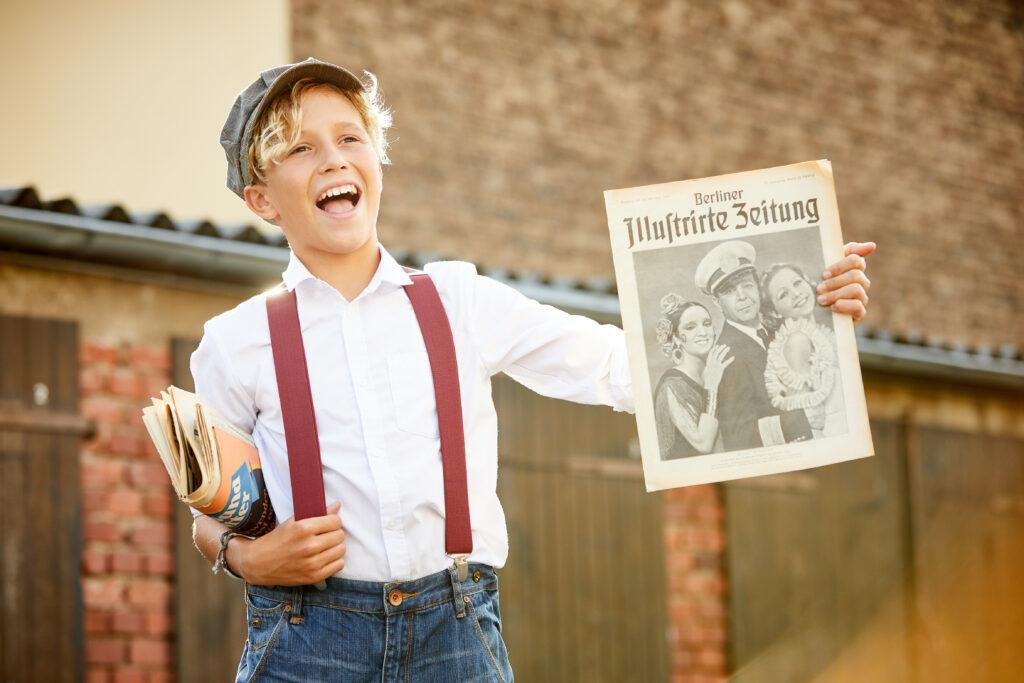 Die Zeitung 1931 zum 90. Geburtstag: Unser Zeitungsjunge