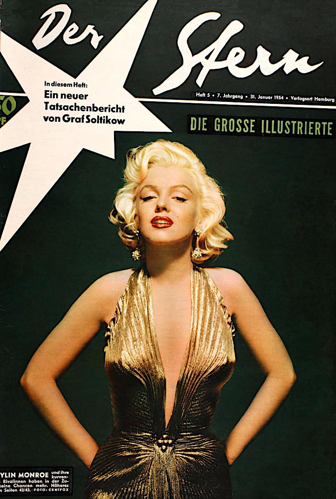 Aus unserem Archiv: Marilyn Monroe auf Stern  5/1954