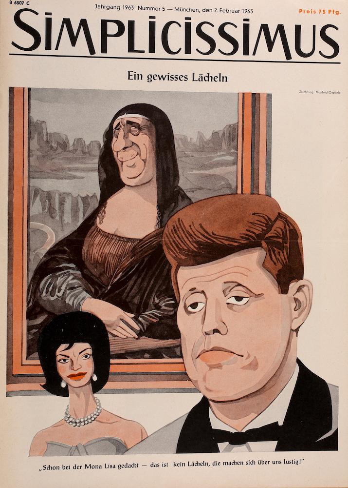 Aus unserem Archiv: John F. Kennedy und Jacqueline Kennedy auf Simplicissimus vom 2. Februar 1963