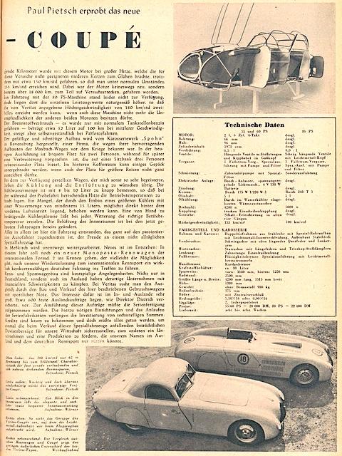 Auto Motor Sport Archiv: Test Veritas Coupe