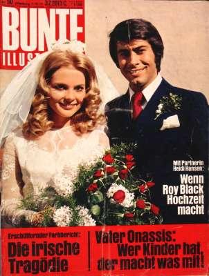 Zeitung 1971: Bunte Illustrierte mit Roy Black & Heidi Hansen