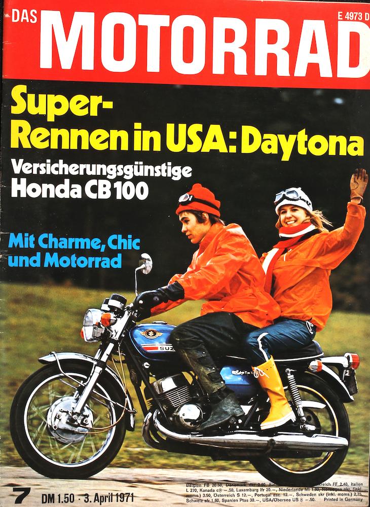 Zeitung 1971: Das Motorrad