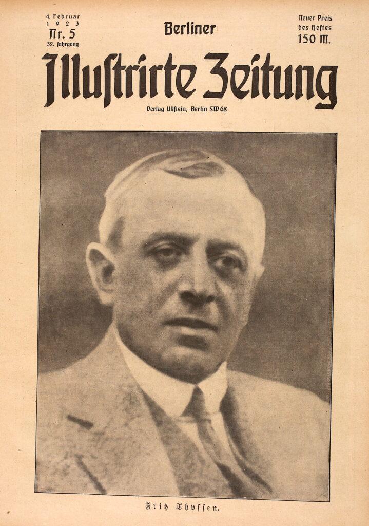 8. Februar 1951: Fritz Thyssen stirbt. Hier im Jahre 1923.