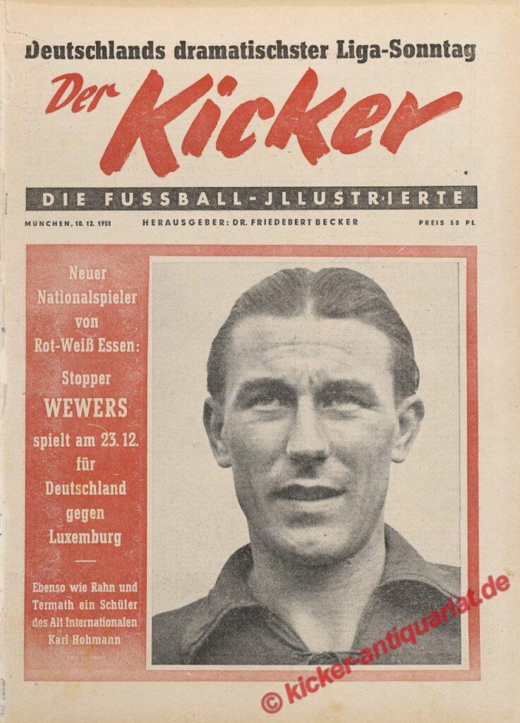 Aus dem Kicker Archiv: Erste Kicker Ausgabe nach dem zweiten Weltkrieg