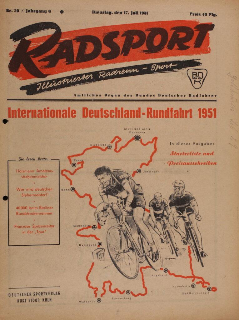 Radsport Zeitung 17. Juli 1951: