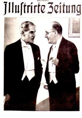 Reichskanzler Dr. Brüning mit dem englische Ministerpräsident MacDonald im Jahr 1931
