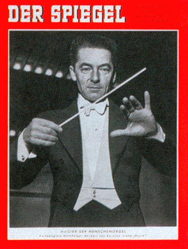 Wilhelm Furtwängler 1951: Eröffnung der Festspiele in Bayreuth. Hier auf einer Spiegel Zeitung von 1955