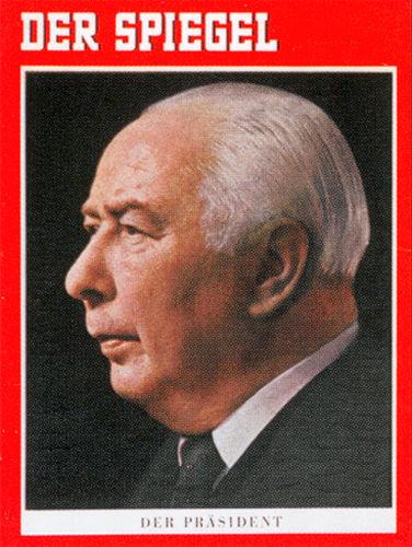Der Präsident des Jahres 1951: JHier auf einer Zeitung des Jahres 1959