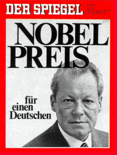 Zeitung 1971: Nobelpreis für Willy Brandt