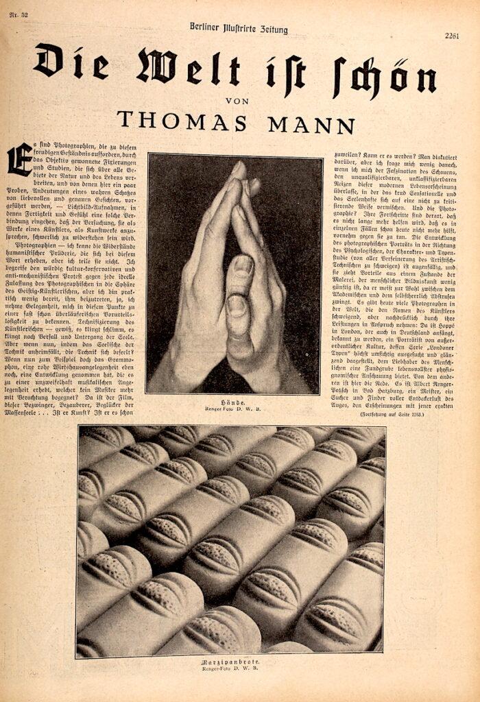 Text von Thomas Mann in Berliner Illustrirten Zeitung 52/1928