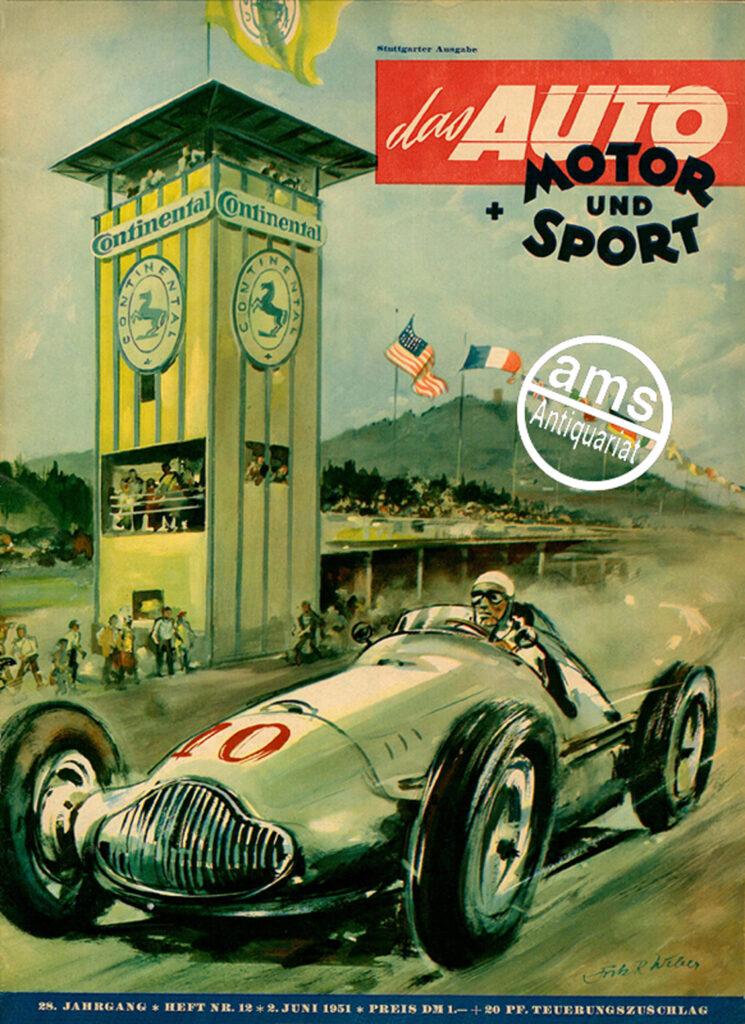 Original Zeitung:  Auto Motor Sport von 1951