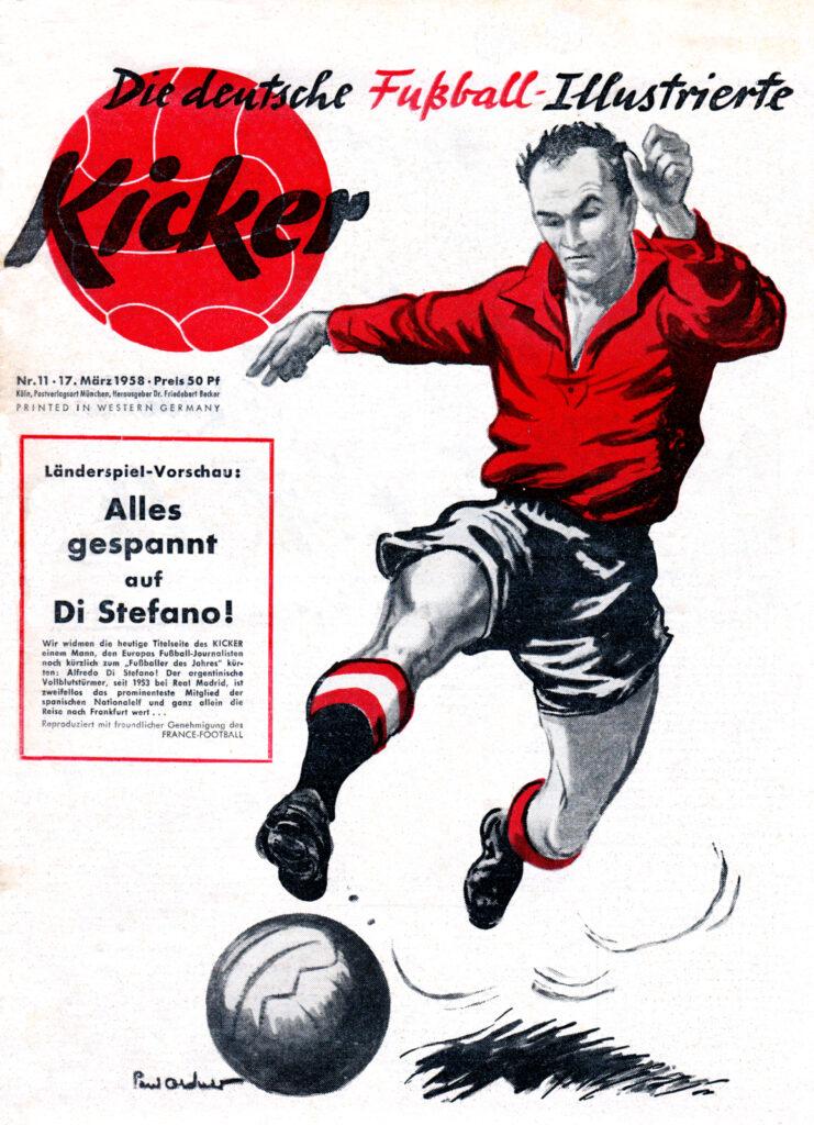 Original Zeitung: Kicker Sportmagazin von 1958