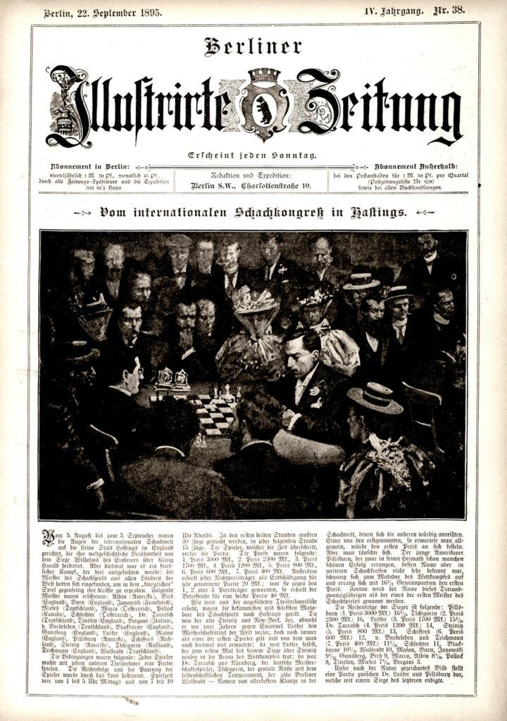 Berliner Zeitung 1892: Vom internationalen Schachkongreß in Hastings.