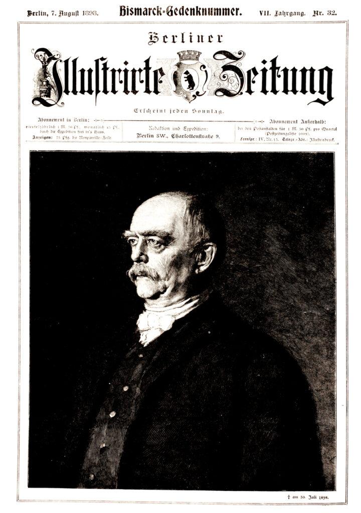 Berliner Zeitung 1898: Bismarck-Gedenknummer. † am 30. Juli 1898.