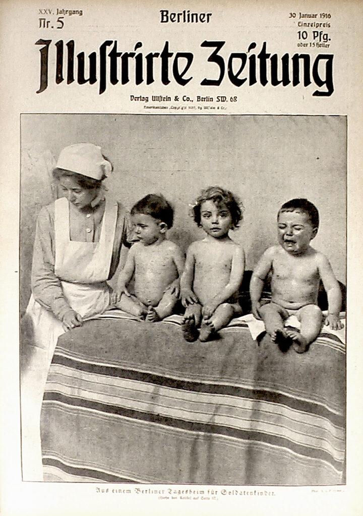 Berliner Illustrirte Zeitung, 30.01.1916: Aus einem Berliner Tagesheim für Soldatenkinder. (Siehe den Artikel auf Seite 57.) Phot. A. v. Freybers