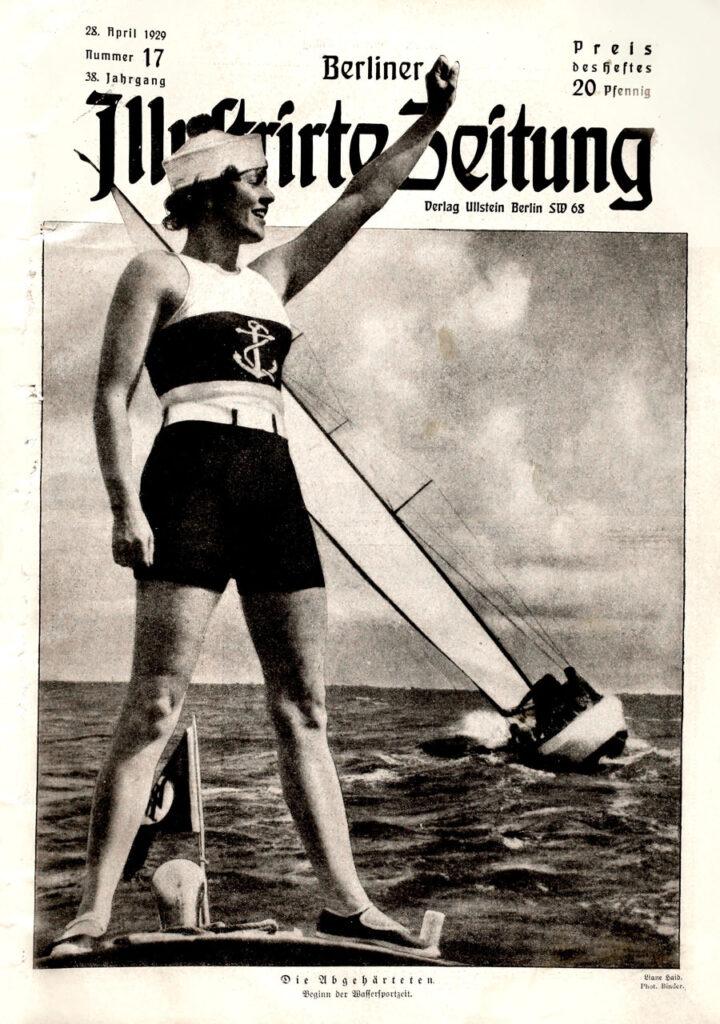 Berliner Illustrirte Zeitung 28.4.1929: Die Abgehärteten. Beginn der Wassersportzeit. Liane Haid. Phot. Binder.